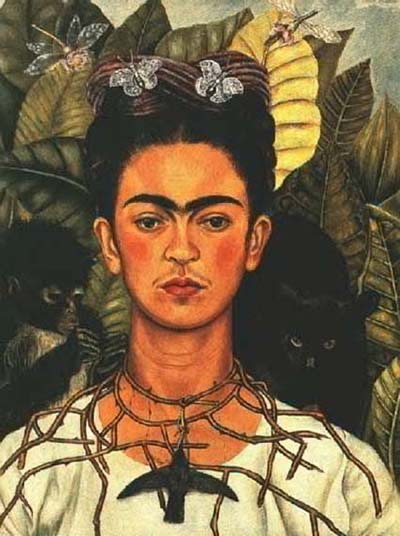 Frida Kahlo. Self-Portrait with Thorn Necklace and Hummingbird. 1940.